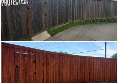 Amazing fence staining before and after