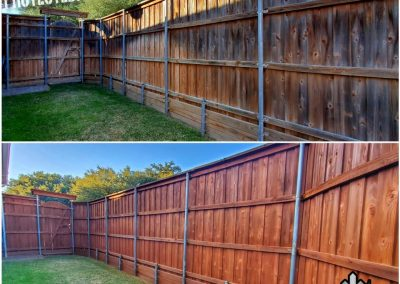 Beautiful Fence Transformation Before and After