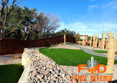 Beautiful Landscape Fence Stained