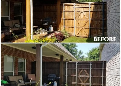 Before and After Pics of Fence Staining