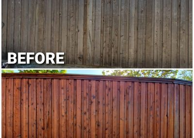 Board on Board fence Staining Pics Before and After