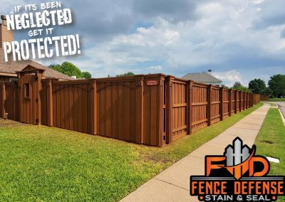 Board Over Board Fence Staining Plano