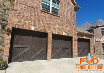 Brown Stained Garage Doors