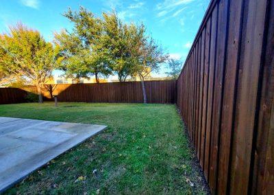 cedar fence dark stain