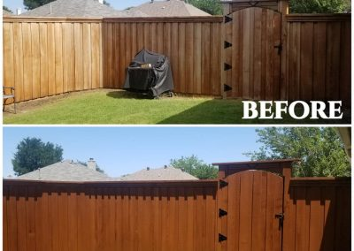 Cedar Fence Sealer Before and After Pics