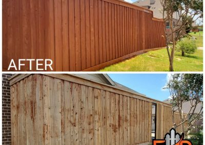 Dallas Fence Staining Before and After Pics