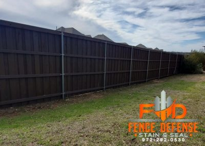 Dark Brown Staining For Your Fence