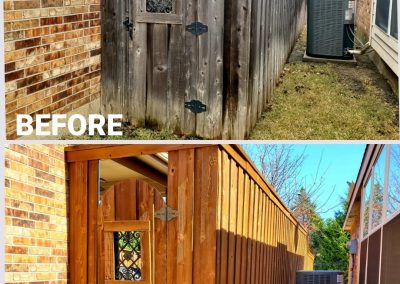 Fence and Gate Staining Before an After Pics