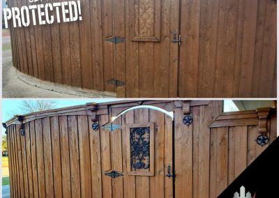 Fence and Gate Staining Transformation