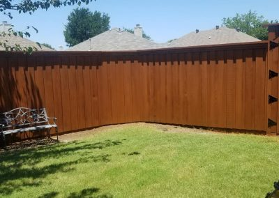 Fence Staining Board on Board