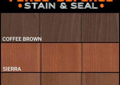 Fence Staining Color Options