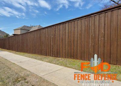 Fence Staining in Richardson