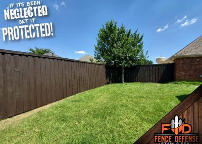 Fence Staining Project in Garland, TX
