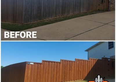 Fence Staining Transformation Before and After