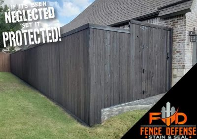 Gray Stained Fence Frisco