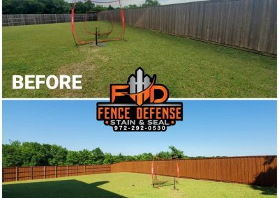 Large Fence Staining Transformation Pics