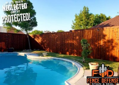 North Dallas Fence Staining