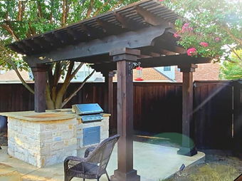 Pergola and Arbor Staining Service Plano TX