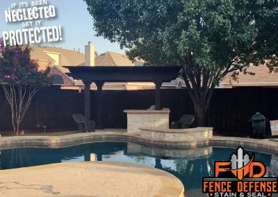 Pergola Stained Near Pool
