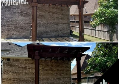 Pergola Staining Before and After Pics