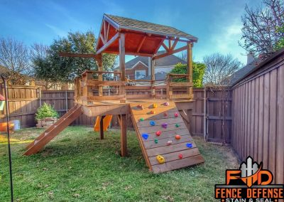 Old Playset Needs To Be Stained