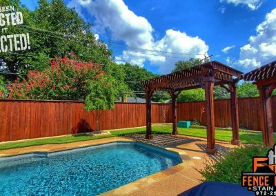 Poolside Pergola Stained Brown