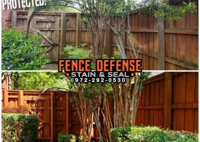 Pro Fence Staining Before and After