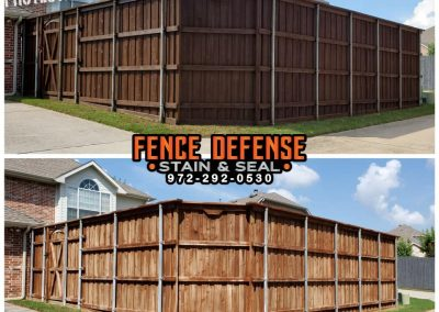 Professional Fence Staining Before and After Pics