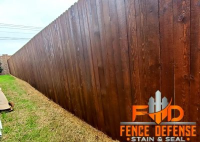 Professional Stained Wooden Fence