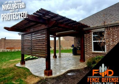 Professionally Stained Patio Arbor