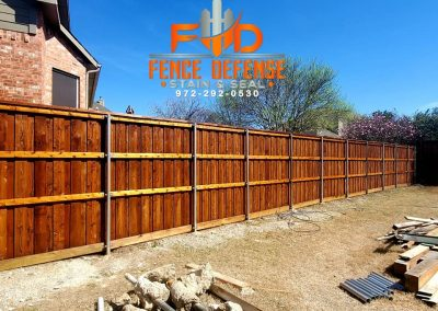 Restain Old Fence To Look New
