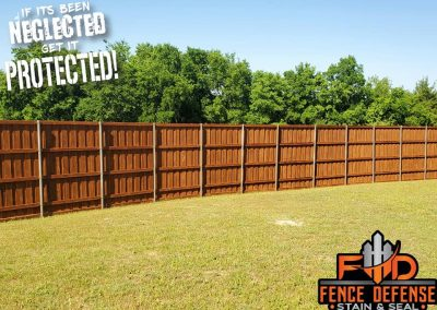 Restaining Fence Project