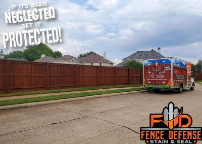 Side By Side Fence Staining Service