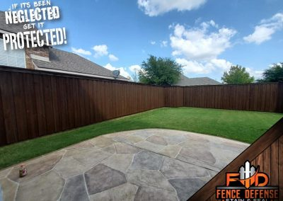 Stain and Seal Wooden Fence