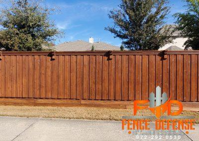 Stained Cedar Fence in Carrollton