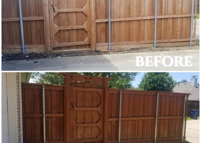 Stained Fence Before and After Pics