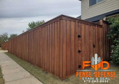 Stained Wood Fences by Fence Defense Plano