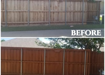 Staining Cedar Fences Before and After