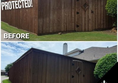 Wood Stain For Fence Before and After