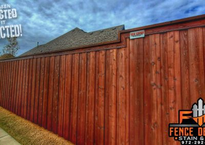 8 foot board on board fence staining