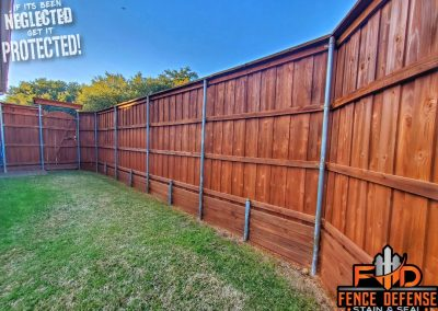 8 Foot Fence Staining Sierra Semi-Transparent Stain