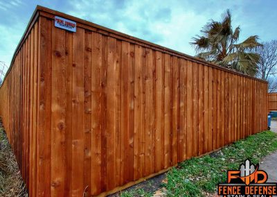 8 foot fence staining leatherwood transparent stain frisco, tx