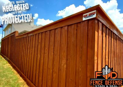 Beautiful Fence Staining With Sierra Semi-Transparent Stain