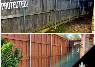 Before and After Fence Staining Pics