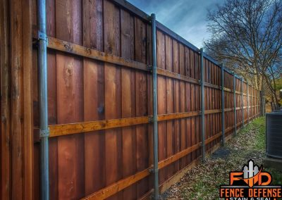 Board on Board Fence Staining Plano