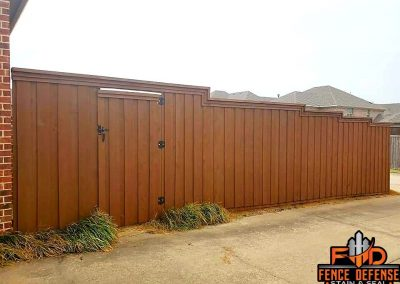 Board on Board Fence Staining Plano TX
