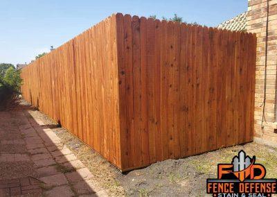 Cedar Tone Transparent Stain For Fence