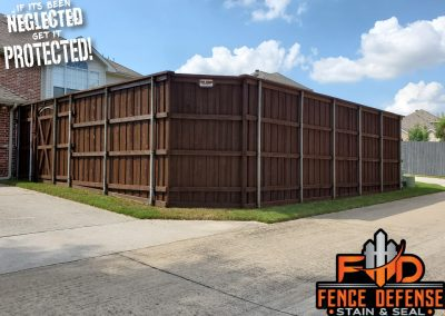 Beautiful Coffee Brown Wood Stain For Your Fence