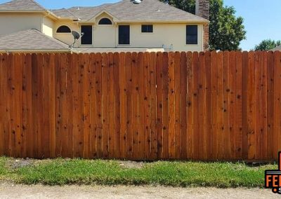 Fence Staining Company In Frisco - Cedar Tone Transparent Stain