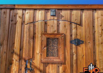 Leatherwood Fence Staining